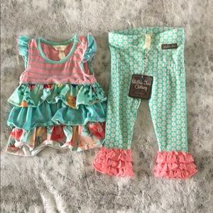 NEW with tags Matilda Jane pants and shirt, 12/18m